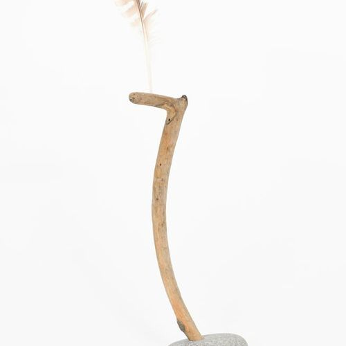 ‡ Sid Burnard (born 1948) Whimsies for Kate, driftwood, feather and pebble sculp…