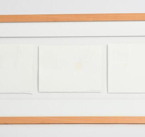 ‡ 理查德 沃特金斯无题三联画,2008年压制纸,有框架,用铅笔签名并注明日期 79 x 32.5厘米。