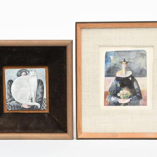 ‡ Elizabeth Taggart (née en 1943) An Outside Performance, 1978 acrylique sur pan…