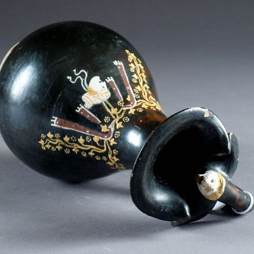 Oenochoé. With a four lobed collar, the handle extended by an animal's head. Bel…