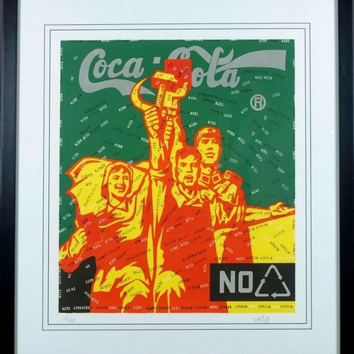 Wang Guangyi (1957). Coca Cola Lithograph signed lower right. N° 115/199. Size :…