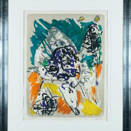 Asger Jorn (1914 1973). It's too late for that. Lithograph signed lower right. S…