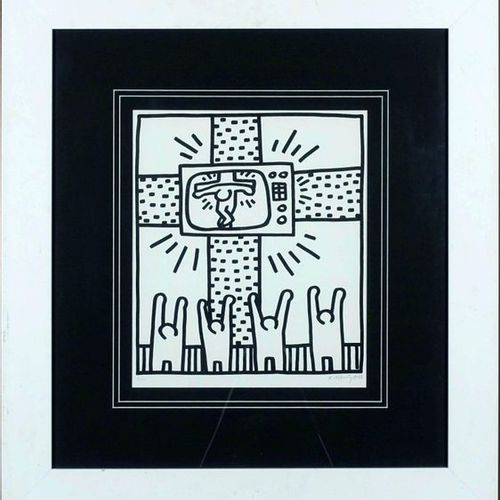 Keith HARING (1958 1990). Titleless. Lithograph signed lower right. N° 4/300. Si…
