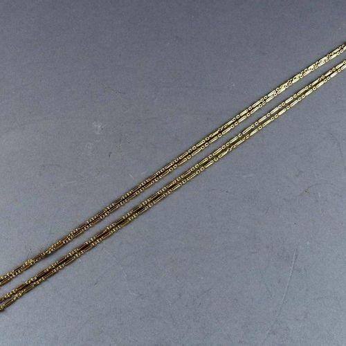 Importante Chaîne de Montre de Gousset. 18 carat yellow gold. Weight: 34.4 g. Le…