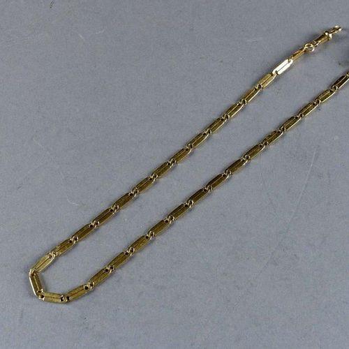 Petite Chaîne de Montre de Gousset Art Déco. 18 carat yellow gold. Weight: 27.9 …