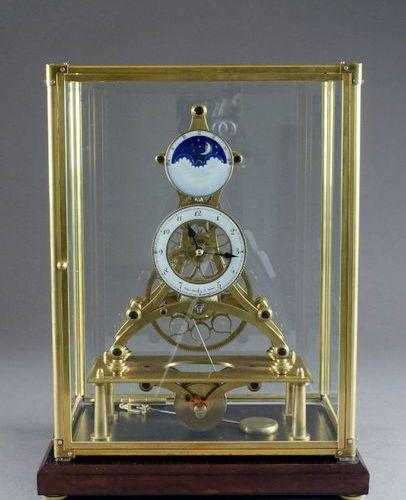 Frank Denk Wien (sur un modèle de). Replica of a skeleton clock with complicatio…