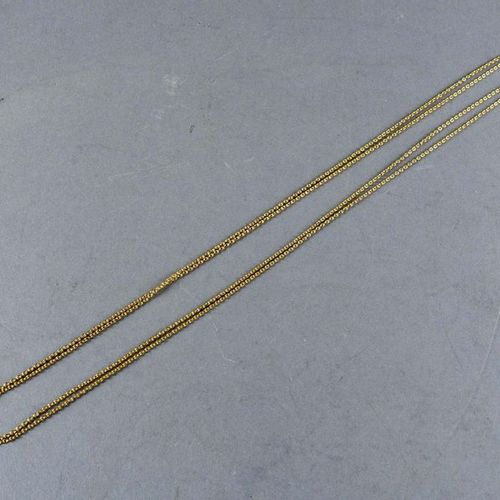 Importante Chaîne de Montre de Gousset. 18 carat yellow gold. Weight: 11.5 g. Le…