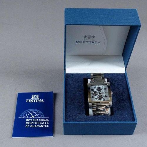 Festina F16234/2. Man's wristwatch. Square bezel. Quartz movement. Date, day and…
