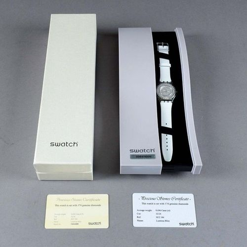 Swatch Lustrous Bliss SFZ 106 (2004). Ladies' wristwatch. Round bezel. Quartz mo…