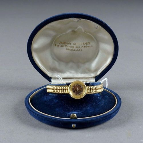 OMEGA. Complete lady's watch. Round bezel. Functional manual movement. Case and …