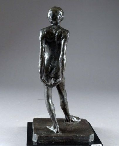 Edgard Degas (d'après). Nude Study of the Little Dancer. Proof in patinated bron…