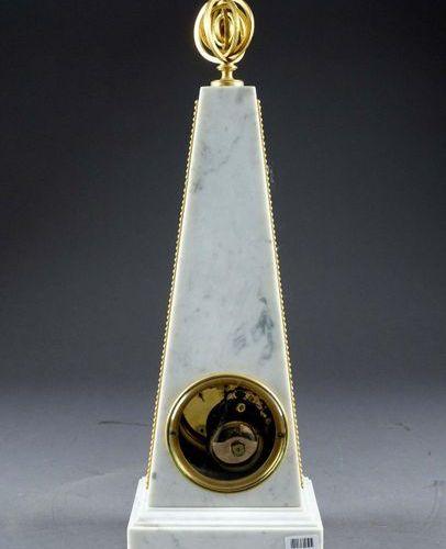 "Grande Pendule à l'Obélisque. ""Louis XVI period. Annular dial showing the moveme…"