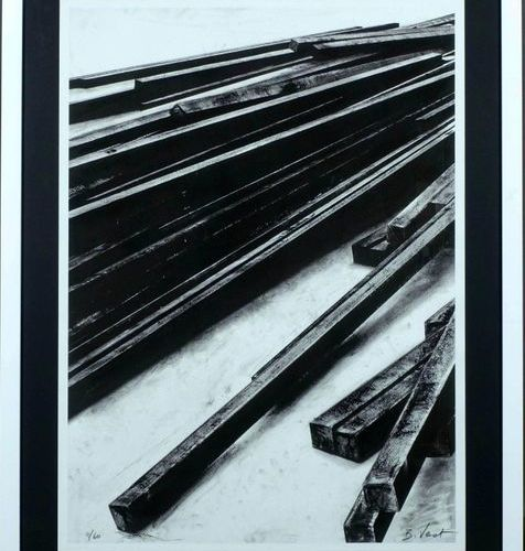 Bernar Venet (1941). Straight Lines Clutter. Lithograph signed lower right. N° 4…