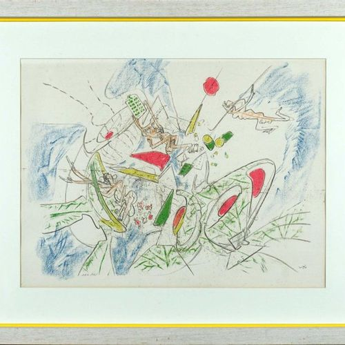 Roberto MATTA (1911 2002). Untitled. Lithograph signed lower right. N° 124/125. …
