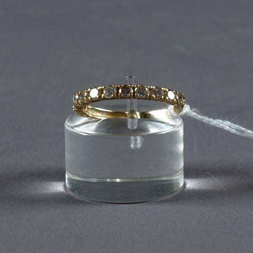 Bague de Dame. Set with eleven brilliant cut diamonds (approx. 0.65 carat). Moun…