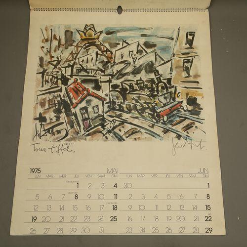 (Eugène Paul dit) GEN PAUL (1895 1975) Calendar of 1975 with 6 lithographs of PA…