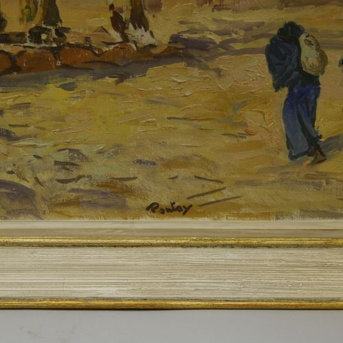 Henri PONTOY (1888 1968) Water carrier near the Kasbah Oil on canvas Signed down…