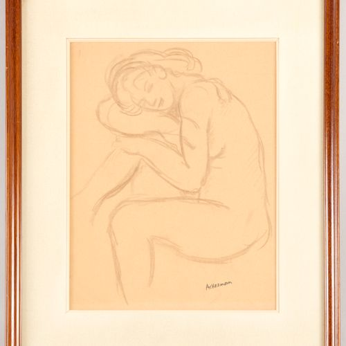Paul ACKERMAN (1908 1981) Sleeping young woman Pencil on paper Signature stamp o…