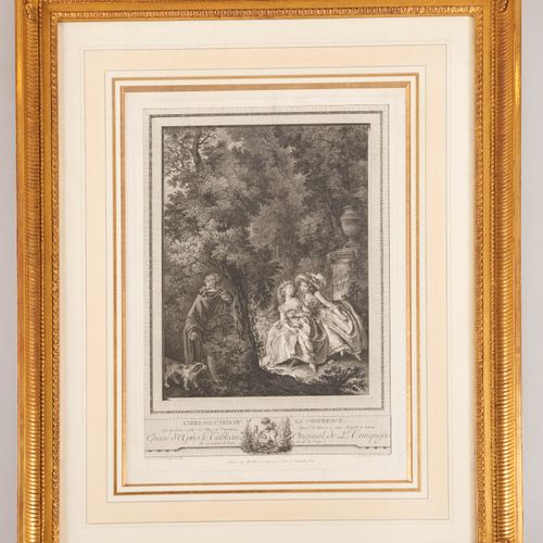 French School XVIIIth The Irresolution or the Confidence Engraved by J. A. PIERR…