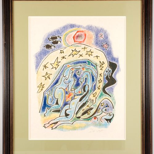 André MASSON (1896 1987) Cosmic Couple Aquatint in crayon style Signed and numbe…