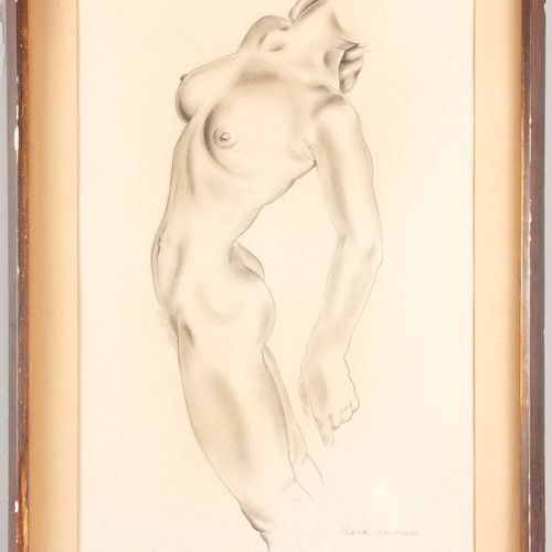 Mariette LYDIS (1894 1970) Clara dancer Pencil and stump on paper Titled, monogr…