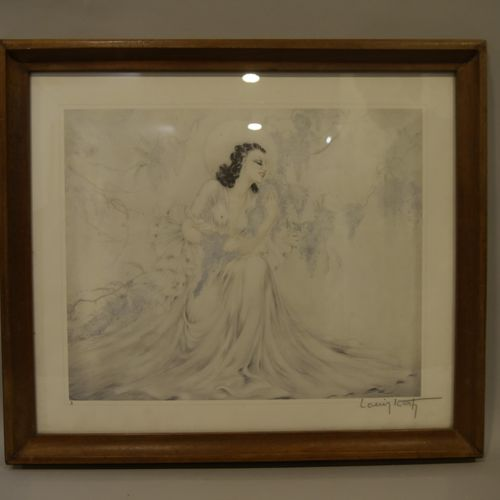 Louis ICART (1888 1950) Young Elegant Engraving numbered 3 and countersigned in …