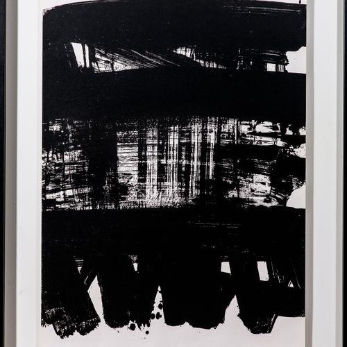 Pierre SOULAGES (born in 1919) Print Lithograph n°21 1969 MOURLOT PARIS Printer …