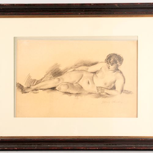 Henry OTTMANN (1877 1927) Elongated nude Pencil on paper Signed lower right 31 x…