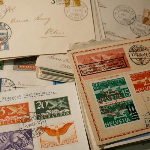 SUISSE Emissions 1900/1938 : Lot de lettres et entiers postaux, plusieurs dizain…