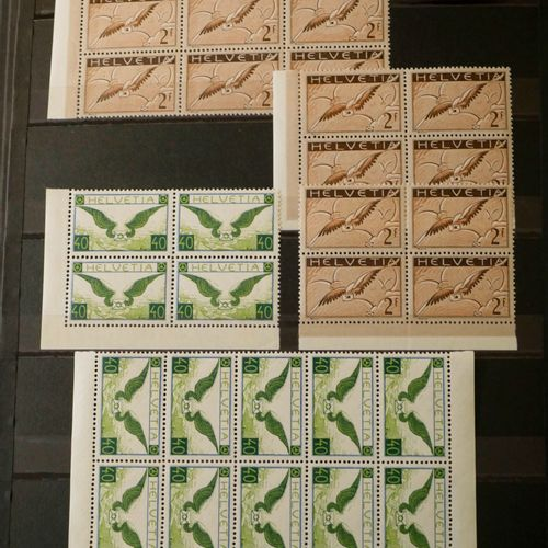 SUISSE Emissions 1905/1938 : Très bel ensemble de timbres neufs provenant d'un a…