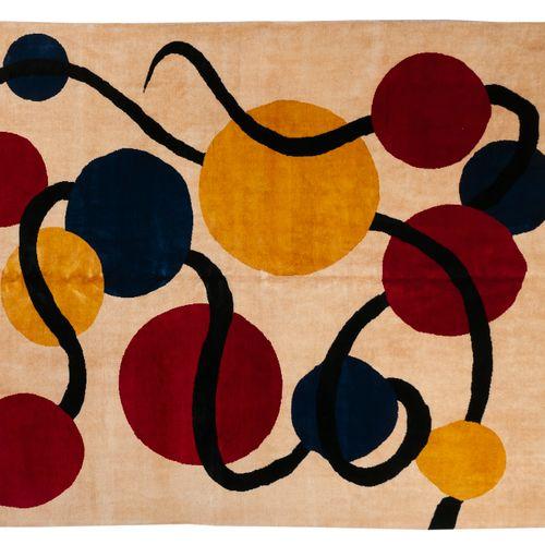 Tapis moderne contemporain XXème D'après Calder (1898 1976) Tapis en laine fait …