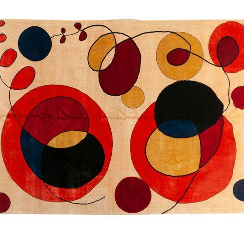 Tapis moderne contemporain XXème, carton d'après Calder (1898 1976), Tapis en la…