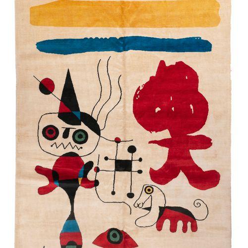 Tapis moderne contemporain XXème D'après Joan MIRO (1893 1983) Tapis en laine fa…