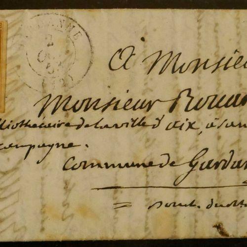 FRANCE Emission 1852 : 10c Présidence oblitéré OR ( origine rurale), sur lettre …