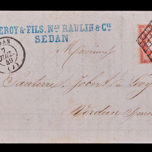 FRANCE Emission 1849/50 : N°7a 1F VERMILLON VIF dit de « SEDAN » oblitéré grille…