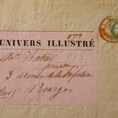 FRANCE Emission 1854 : N°12 5c vert Piquage SUSSE, oblitéré cad rouge des imprim…