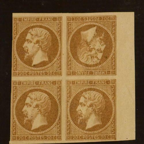 FRANCE Emissions de l'Empire 1854 à 1873 : Ensemble de timbres et lettres dont 1…