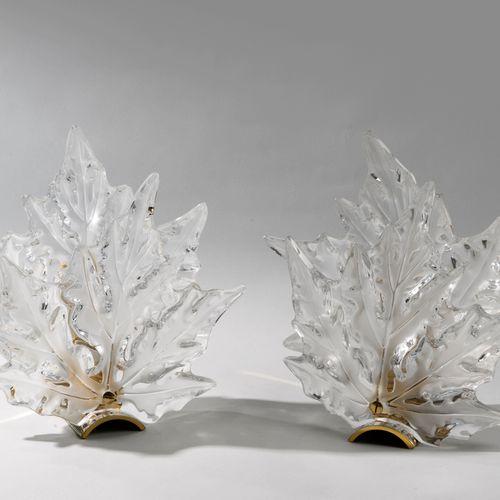 Marc LALIQUE. Rare ensemble Lustre et paires d'appliques modèle CHAMPS ELYSEES. …