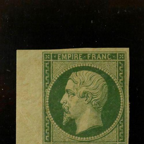 FRANCE Emission 1854 : N°12c 5c vert foncé, neuf avec gomme, bord de feuille (co…