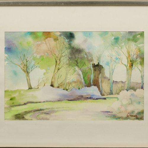 Philippe CHOSSON (1919 2011) Pays de Caux Aquarelle sur papier Signé en bas à dr…