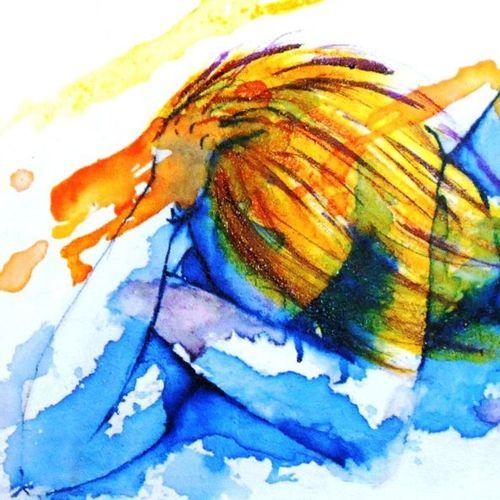 """BRES Monick """"Nébuleuse"""" Encres de couleur médium de texture sur toile 60 x 80 cm…"""