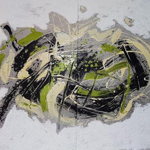 BEZANCON Guy Garden 2010 Acrylic on cardboard, diptych 120x160cm, signed.    Gar…