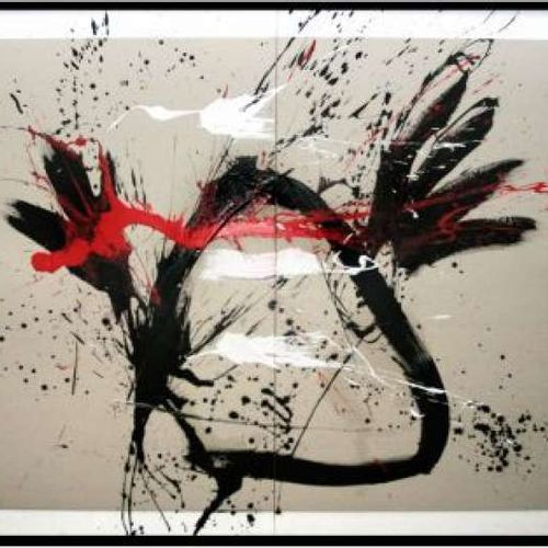 """BEZANCON Guy """"Untitled"""" Mixed media 164 x 122 cm signed lower right.        """"Unt…"""
