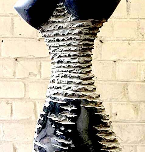 """SAVA Marian """"Frissons d'amour"""" Belgian black marble from 2011 103 x 21 x 7cm  Si…"""