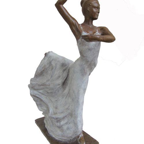 "CANTIN Josiane ""Sofia"" Bronze made with lost wax Fondeur d'Art de Blain H : 46 c…"