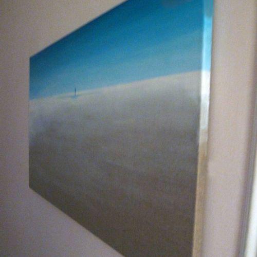 """BONNET Myriam """"Quo vadis"""" Huile sur toile 100 x 60 cm signée en bas à droite.   …"""