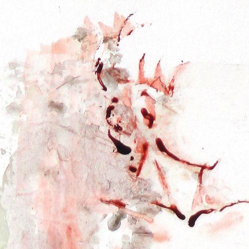 """BRES Monick (née en 1946) """"Transparence"""" Encres de couleur et médium satiné sur …"""