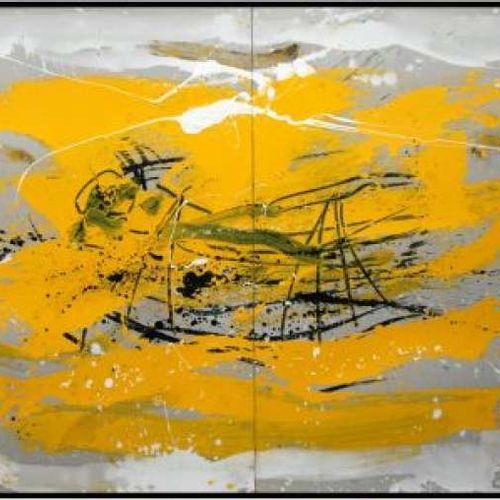 """BEZANCON Guy """" Voiliers baignés de soleil """" Technique mixte 164 x 122 cm signée …"""