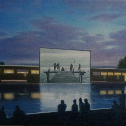 "BORDEAU Anastassia ""Regard vers l'infini"" Huile sur toile 27 x 41 cm signée.    …"