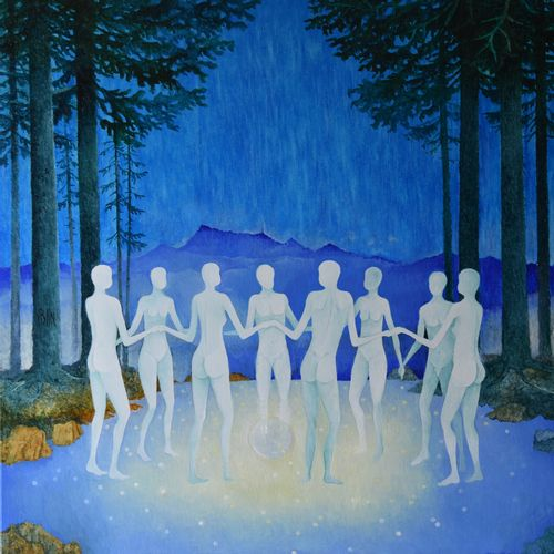 """BLIN Yves """"La lumière des étoiles"""" Huile sur toile 100 x 100 cm signée.    Frais…"""